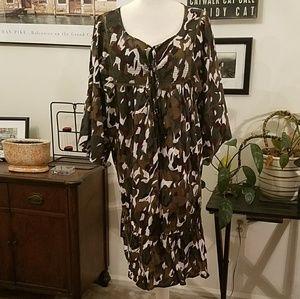 Lane Bryant NWT camouflage dress